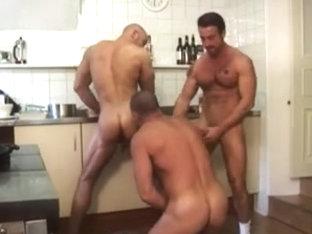 Lustful hunks with hard cocks kiss like never before