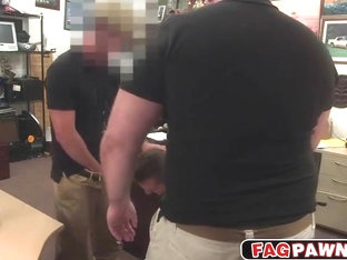 Hot stud selling some jewelry with his ass