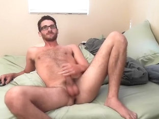 Naughty BF is having a good time at home and filming himself on web camera