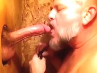 A LARGE Surprise at the Gloryhole