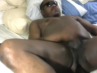 black guy with huge dildo cumshot