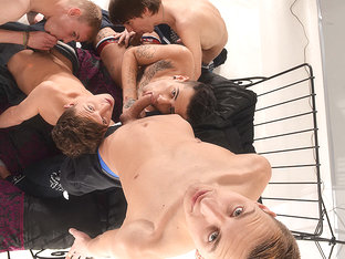 Five Horny Boys All Hungry For It! - Mickey Taylor  Reece Bentley - TXXXMStudios