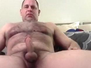 Hairy Dude Jacks His Meat