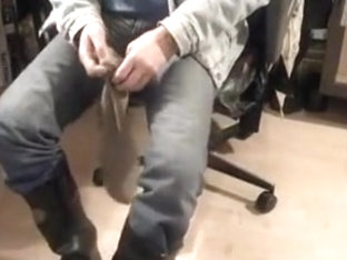 nlboots - naked feet, socks, boots, smokin', jeans