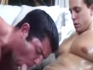 Sweaty gay hunks oral sex