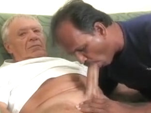 Indian man sucking big older cock