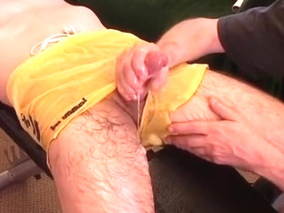 Bulge Teasing with cum!
