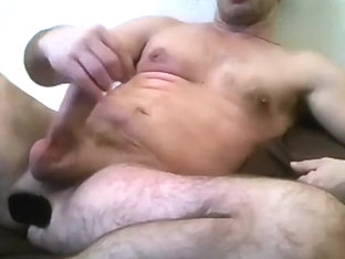 A moist stroke, lots of precum and a buttplug