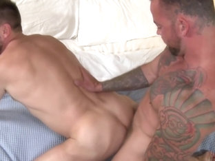 Sean Duran and Hans Berlin having bareback anal sex