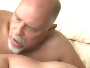 Grandpa and muscular young jock have dirty sweaty sex