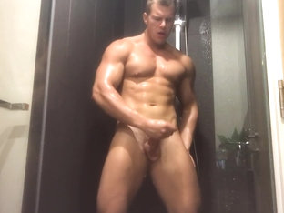 Most beautiful man in the world jacking off in the shower.