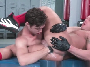 Trading Extreme Fist Fucks in the Locker Room