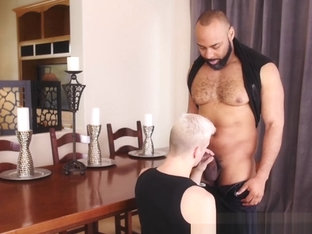 Blond homosexual rimmed and barebacked by BBC monster