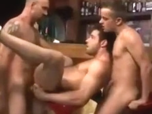 Hot hunks cruising in a bar