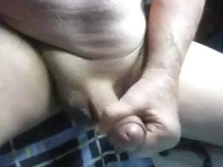 68yrold Grandpa &35 mature penis close uncut wank