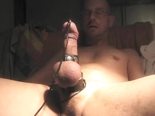 Penis Dilator, 9 volt through my penis.