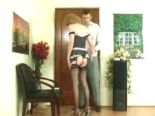 Cute CD in skirt gets analed