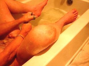 Rub-a-dub in the tub until cum