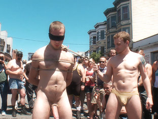 Cody Allen - Naked, Tied up, Zippered, Humiliated in Public
