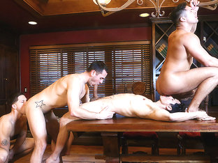 Brenner Bolton, Rafael Alencar, Roman Todd, Seth Santoro in Godfather Part 4 - JizzOrgy