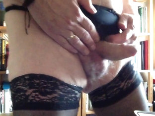 Cummin in nylons and tight panty 1