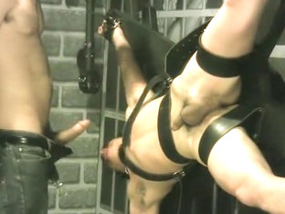 Crazy amateur gay movie with BDSM, Couple scenes