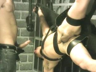 Crazy amateur gay movie with BDSM, Couple scenes