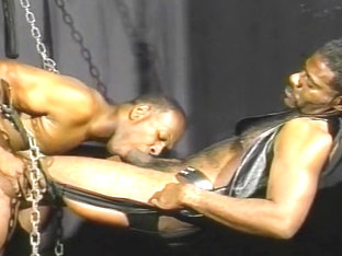 Two Leather Loving Black Guys Fuck