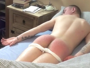 Amazing homemade gay movie with Couple, Spanking scenes
