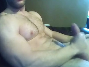 Muscle Guy Cam With Dildo