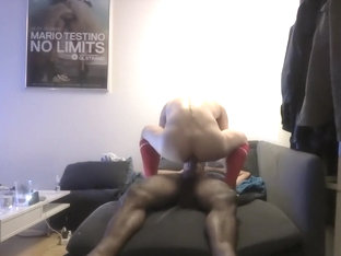 Twink sucks and rides hung black friend