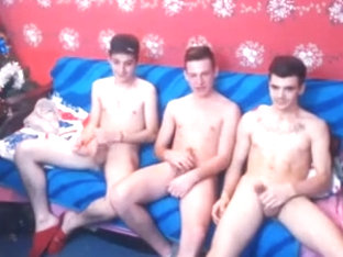 3 Athletic Romanian Bi Boys Have Fun On Cam