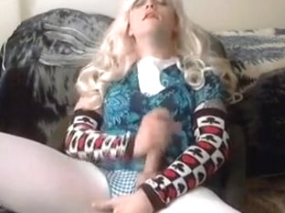 Old Video, Just Crossdressing and Stroking