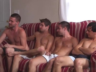 Hottie Rafael Alencar rewards four twinks with his big dick