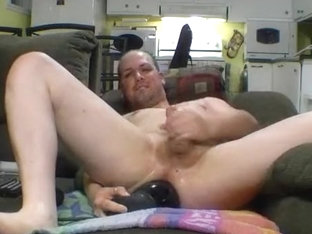 Huge toy expands his ass