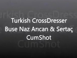 Turkish CrossDresser Buse Naz Arican and Sertac - CumShot
