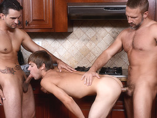 Dirk Caber & Johnny Rapid & Phenix Saint in Stepfather's Secret Part 7 - DrillMyHole