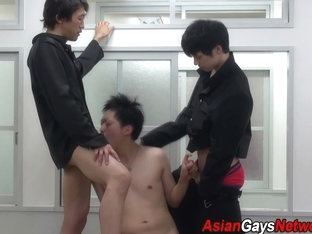 Asian amateur spitroasted