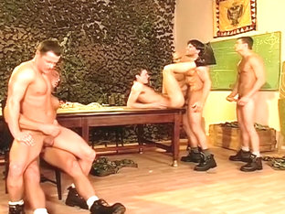 Horny Soldiers Gang Fuck Tight Twink Ass