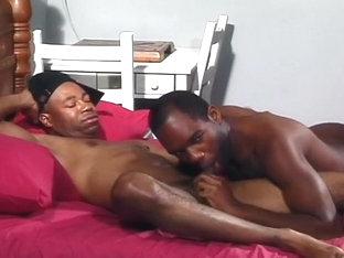 Squat Dude Penetrates Taller Man's Anus