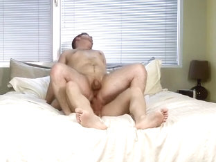 Horny brunette dudes enjoy each other