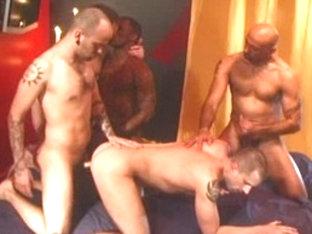 Horny male pornstars Jake Corwin, Chris Crawford and Jason Dean in exotic blowjob, interracial hom.