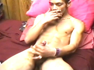 Perfect Body Latino Stud Ron Pumps Off His Big Hard Dick