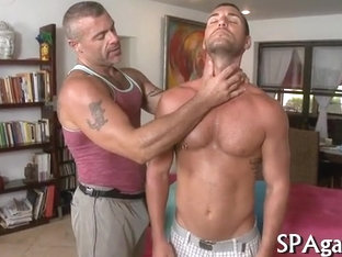 Raucous massage with gays