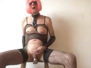 Crossdressed slave girl Lusty masturbation