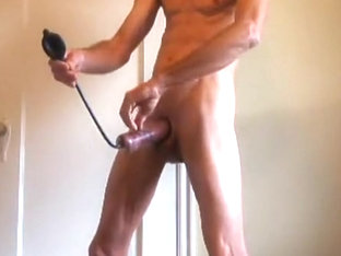 Pumping my Cock for Bareback Anal and Fist Fucking