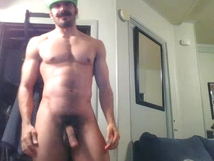 Hot Str8 Hunk Disguised As Luigi Shows Off And Plays With A Fleshlight