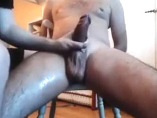 Me edging teasing milking a big cock - big balls