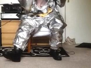 Hump & Stroke in Hazmat Costume with Aluminized Overcover