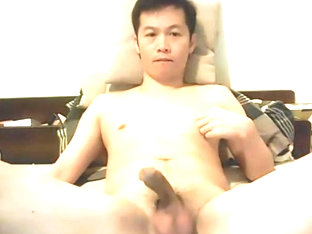 Asian try to hands free cum
